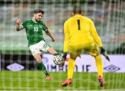 27 March 2021; Robbie Brady of Republic of Ireland during the FIFA World Cup 2022 qualifying group A match between Republic of Ireland and Luxembourg at the Aviva Stadium in Dublin. Photo by Eóin Noonan/Sportsfile