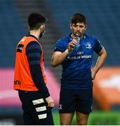 27 March 2021; Ross Byrne of Leinster, right, with brother Harry during the Guinness PRO14 Final match between Leinster and Munster at the RDS Arena in Dublin. Photo by David Fitzgerald/Sportsfile
