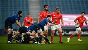27 March 2021; Luke McGrath of Leinster during the Guinness PRO14 Final match between Leinster and Munster at the RDS Arena in Dublin. Photo by David Fitzgerald/Sportsfile