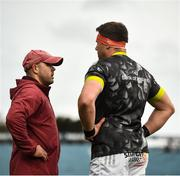 27 March 2021; Munster defence coach JP Ferreira with CJ Stander prior to the Guinness PRO14 Final match between Leinster and Munster at the RDS Arena in Dublin. Photo by David Fitzgerald/Sportsfile