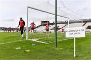 27 March 2021; The Longford Town goalkeepers warm up ahead of the SSE Airtricity League Premier Division match between Bohemians and Longford Town at Dalymount Park in Dublin. Photo by Sam Barnes/Sportsfile