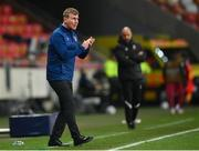 30 March 2021; Republic of Ireland manager Stephen Kenny encourages his side during the international friendly match between Qatar and Republic of Ireland at Nagyerdei Stadion in Debrecen, Hungary. Photo by Stephen McCarthy/Sportsfile