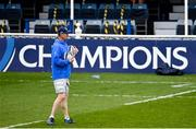 1 April 2021; Head coach Leo Cullen during the Leinster Rugby captains run at the RDS Arena in Dublin. Photo by Ramsey Cardy/Sportsfile