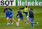 1 April 2021; Luke McGrath during the Leinster Rugby captains run at the RDS Arena in Dublin. Photo by Ramsey Cardy/Sportsfile