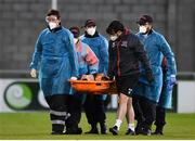2 April 2021; Brian Gartland of Dundalk leaves the pitch on a stretcher after picking up an injury during the SSE Airtricity League Premier Division match between Shamrock Rovers and Dundalk at Tallaght Stadium in Dublin. Photo by Seb Daly/Sportsfile
