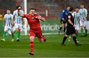 2 April 2021; Georgie Poynton of Shelbourne celebrates scoring his side's first goal during the SSE Airtricity League First Division match between Shelbourne and Bray Wanderers at Tolka Park in Dublin. Photo by Piaras Ó Mídheach/Sportsfile