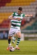 2 April 2021; Dylan Watts of Shamrock Rovers during the SSE Airtricity League Premier Division match between Shamrock Rovers and Dundalk at Tallaght Stadium in Dublin. Photo by Seb Daly/Sportsfile