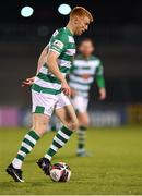 2 April 2021; Liam Scales of Shamrock Rovers during the SSE Airtricity League Premier Division match between Shamrock Rovers and Dundalk at Tallaght Stadium in Dublin. Photo by Seb Daly/Sportsfile