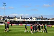 3 April 2021; Cork City players walk the pitch prior to the SSE Airtricity Women's National League match between Cork City and Shelbourne at Turners Cross in Cork. Photo by Eóin Noonan/Sportsfile