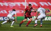 3 April 2021; CJ Stander of Munster in action against Zack Holmes, left, and Pita Ahk, both of Toulouse, during the Heineken Champions Cup Round of 16 match between Munster and Toulouse at Thomond Park in Limerick. Photo by Ramsey Cardy/Sportsfile