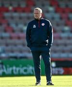 3 April 2021; St Patrick's Athletic manager Alan Mathews prior to the SSE Airtricity League Premier Division match between Bohemians and St Patrick's Athletic at Dalymount Park in Dublin. Photo by Harry Murphy/Sportsfile