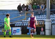 3 April 2021; Supporters look on during the SSE Airtricity League Premier Division match between Drogheda United and Finn Harps at Head in the Game Park in Drogheda, Louth. Photo by Ben McShane/Sportsfile