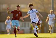 3 April 2021; Luke Boore of UCD in action against Ciaran Griffin of Cobh during the SSE Airtricity League First Division match between Cobh Ramblers and UCD at St Colman's Park in Cobh, Cork. Photo by Eóin Noonan/Sportsfile
