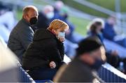 3 April 2021; Republic of Ireland manager Vera Pauw in attendance at the SSE Airtricity Women's National League match between DLR Waves and Wexford Youths at UCD Bowl in Belfield, Dublin. Photo by Piaras Ó Mídheach/Sportsfile
