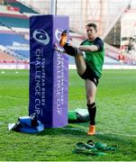 3 April 2021; Matt Healy of Connacht before the European Rugby Challenge Cup Round of 16 match between Leicester Tigers and Connacht at Welford Road in Leicester, England. Photo by Matt Impey/Sportsfile