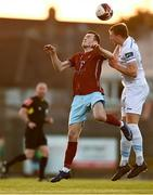 3 April 2021; Sam Todd of UCD in action against Lee Devitt of Cobh during the SSE Airtricity League First Division match between Cobh Ramblers and UCD at St Colman's Park in Cobh, Cork. Photo by Eóin Noonan/Sportsfile