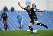 3 April 2021; Sinead Taylor of Wexford Youths takes a shot during the SSE Airtricity Women's National League match between DLR Waves and Wexford Youths at UCD Bowl in Belfield, Dublin. Photo by Piaras Ó Mídheach/Sportsfile