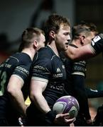 3 April 2021; Kieran Marmion of Connacht after scoring his side's first try during the European Rugby Challenge Cup Round of 16 match between Leicester Tigers and Connacht at Welford Road in Leicester, England. Photo by Matt Impey/Sportsfile