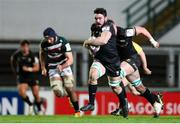 3 April 2021; Paul Boyle of Connacht makes a break during the European Rugby Challenge Cup Round of 16 match between Leicester Tigers and Connacht at Welford Road in Leicester, England. Photo by Matt Impey/Sportsfile