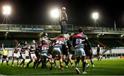 3 April 2021; Paul Boyle of Connacht takes possession in a line-out during the European Rugby Challenge Cup Round of 16 match between Leicester Tigers and Connacht at Welford Road in Leicester, England. Photo by Matt Impey/Sportsfile