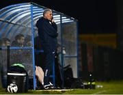 3 April 2021; Cobh head coach Stuart Ashton during the SSE Airtricity League First Division match between Cobh Ramblers and UCD at St Colman's Park in Cobh, Cork. Photo by Eóin Noonan/Sportsfile