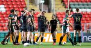3 April 2021; Dejected Connacht players after the European Rugby Challenge Cup Round of 16 match between Leicester Tigers and Connacht at Welford Road in Leicester, England. Photo by Matt Impey/Sportsfile