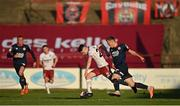 3 April 2021; Dawson Devoy of Bohemians in action against Jamie Lennon of St Patrick's Athletic during the SSE Airtricity League Premier Division match between Bohemians and St Patrick's Athletic at Dalymount Park in Dublin. Photo by Seb Daly/Sportsfile
