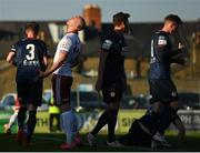 3 April 2021; Georgie Kelly of Bohemians reacts after heading wide during the SSE Airtricity League Premier Division match between Bohemians and St Patrick's Athletic at Dalymount Park in Dublin. Photo by Seb Daly/Sportsfile