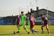 3 April 2021; Karl O'Sullivan of Finn Harps and Dane Massey, centre, and Gary Deegan of Drogheda United during the SSE Airtricity League Premier Division match between Drogheda United and Finn Harps at Head in the Game Park in Drogheda, Louth. Photo by Ben McShane/Sportsfile