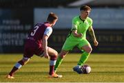 3 April 2021; Mark Russell of Finn Harps and Conor Kane of Drogheda United during the SSE Airtricity League Premier Division match between Drogheda United and Finn Harps at Head in the Game Park in Drogheda, Louth. Photo by Ben McShane/Sportsfile