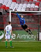 2 April 2021; Bray Wanderers goalkeeper Brian Maher saves a shot from Kevin O'Connor of Shelbourne during the SSE Airtricity League First Division match between Shelbourne and Bray Wanderers at Tolka Park in Dublin. Photo by Piaras Ó Mídheach/Sportsfile