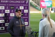 4 April 2021; Ulster head coach Dan McFarland ahead of the European Rugby Challenge Cup Round of 16 match between Harlequins and Ulster at The Twickenham Stoop in London, England. Photo by Matt Impey/Sportsfile