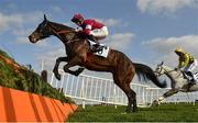 4 April 2021; Conflated, with Jack Kennedy up, during the Underwriting Exchange Gold Cup Novice Steeplechase on day two of the Fairyhouse Easter Festival at the Fairyhouse Racecourse in Ratoath, Meath. Photo by Seb Daly/Sportsfile