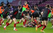 4 April 2021; John Cooney of Ulster during the warm up before the European Rugby Challenge Cup Round of 16 match between Harlequins and Ulster at The Twickenham Stoop in London, England. Photo by Matt Impey/Sportsfile