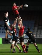 4 April 2021; Nick Timoney of Ulster wins a lineout during the European Rugby Challenge Cup Round of 16 match between Harlequins and Ulster at The Twickenham Stoop in London, England. Photo by Matt Impey/Sportsfile