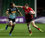 4 April 2021; Jacob Stockdale of Ulster is tackled by Nathan Earle of Harlequins during the European Rugby Challenge Cup Round of 16 match between Harlequins and Ulster at The Twickenham Stoop in London, England. Photo by Matt Impey/Sportsfile