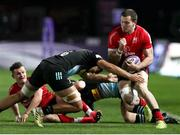 4 April 2021; Jacob Stockdale of Ulster is tackled by Archie White of Harlequins during the European Rugby Challenge Cup Round of 16 match between Harlequins and Ulster at The Twickenham Stoop in London, England. Photo by Matt Impey/Sportsfile
