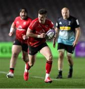 4 April 2021; Billy Burns of Ulster runs in his side's sixth try during the European Rugby Challenge Cup Round of 16 match between Harlequins and Ulster at The Twickenham Stoop in London, England. Photo by Matt Impey/Sportsfile