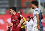 3 April 2021; Joey Carbery of Munster and Romain Ntamack of Toulouse during the Heineken Champions Cup Round of 16 match between Munster and Toulouse at Thomond Park in Limerick. Photo by Ramsey Cardy/Sportsfile