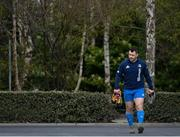 5 April 2021; Cian Healy arrives for Leinster Rugby squad training at UCD in Dublin. Photo by Ramsey Cardy/Sportsfile