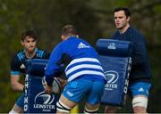 5 April 2021; Ryan Baird, left, and James Ryan during Leinster Rugby squad training at UCD in Dublin. Photo by Ramsey Cardy/Sportsfile