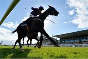 5 April 2021; Easy Game, with Brian Hayes up, on their way to winning the Underwriting Exchange Hurdle during day three of the Fairyhouse Easter Festival at the Fairyhouse Racecourse in Ratoath, Meath. Photo by Harry Murphy/Sportsfile