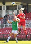 3 April 2021; Saoirse Noonan of Shelbourne in action against Lauren Walsh of Cork City during the SSE Airtricity Women's National League match between Cork City and Shelbourne at Turners Cross in Cork. Photo by Eóin Noonan/Sportsfile