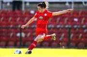 3 April 2021; Emily Whelan of Shelbourne during the SSE Airtricity Women's National League match between Cork City and Shelbourne at Turners Cross in Cork. Photo by Eóin Noonan/Sportsfile