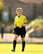 3 April 2021; Referee Claire Purcell during the SSE Airtricity Women's National League match between Cork City and Shelbourne at Turners Cross in Cork. Photo by Eóin Noonan/Sportsfile