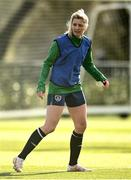 5 April 2021; Florence Gamby during a Republic of Ireland WNT training session at FAI National Training Centre in Dublin. Photo by David Fitzgerald/Sportsfile