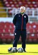 3 April 2021; Coach Joey Malone during the SSE Airtricity Women's National League match between Cork City and Shelbourne at Turners Cross in Cork. Photo by Eóin Noonan/Sportsfile