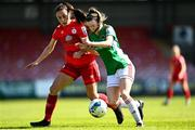 3 April 2021; Shaunagh McCarthy of Cork City in action against Jess Ziu of Shelbourne during the SSE Airtricity Women's National League match between Cork City and Shelbourne at Turners Cross in Cork. Photo by Eóin Noonan/Sportsfile
