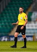 2 April 2021; Referee Paul McLaughlin during the SSE Airtricity League Premier Division match between Shamrock Rovers and Dundalk at Tallaght Stadium in Dublin. Photo by Eóin Noonan/Sportsfile