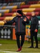 2 April 2021; Dundalk coach Filippo Giovagnoli during the SSE Airtricity League Premier Division match between Shamrock Rovers and Dundalk at Tallaght Stadium in Dublin. Photo by Eóin Noonan/Sportsfile